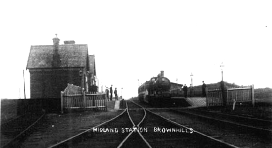 Brownhills station, early 1900s