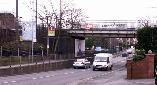 Chester Road station bridge