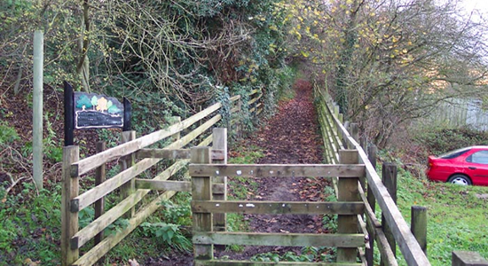 Compton halt entrance, Bridgnorth Road
