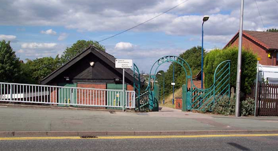 Coseley station entrance, Gough Road