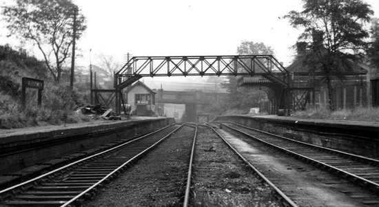 Halesowen station 1956 (DJ Norton)
