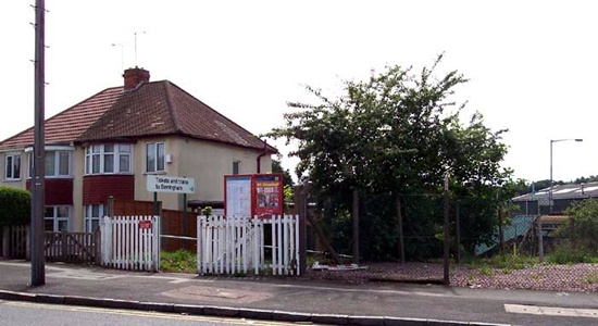 Hamstead station entrance, Rocky Lane