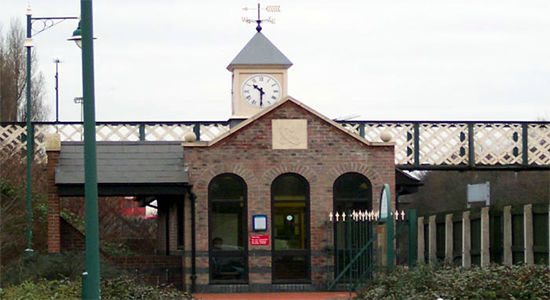Langley Green station booking office
