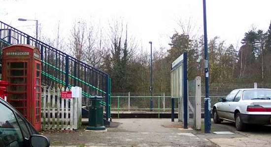 Lapworth station entrance