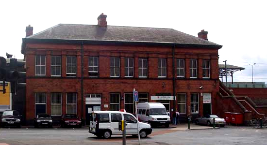 Lichfield City station entrance, Birmingham Road