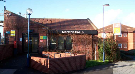Marston Green station building