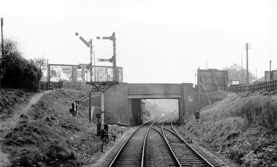 North Walsall Station site 1951 (Milepost)