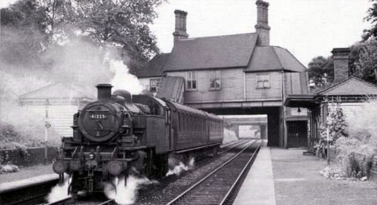 Pleck station in the 1950s (Roger Shenton)