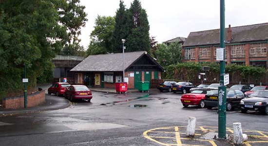 Redditch station booking hall