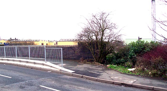 Rood End station entrance site, Rood End Road