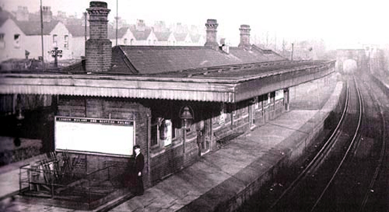 Rotton Park Road station 1934 (W.A.Camwell)