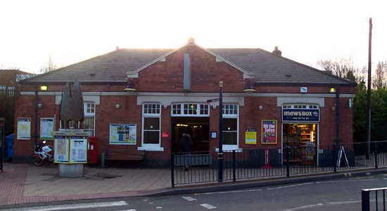 Solihull station booking office
