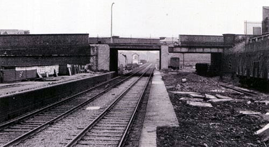 Spon Lane station site, 1960s