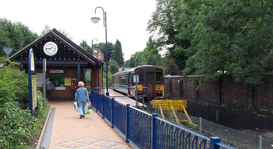 Stourbridge Town station booking office