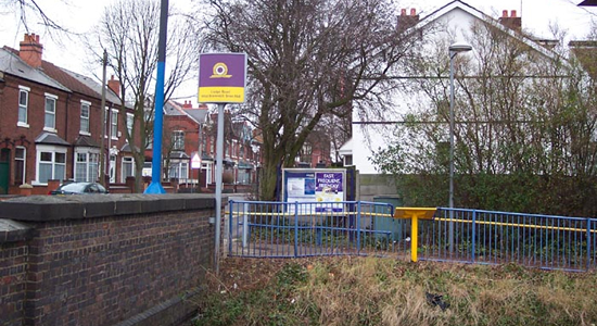 Lodge Road, West Bromwich Town Hall Midland Metro stop entrance