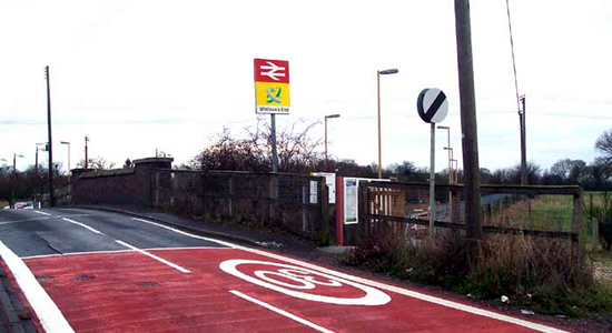 Whitlocks End station entrance