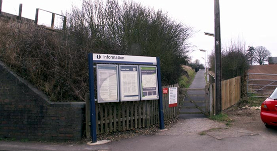 Wootton Wawen station entrance