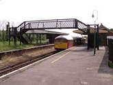Brading station footbridge