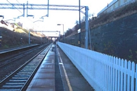 Birmingham platform towards Stechford