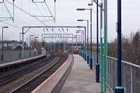 Aston station looking towards Lichfield