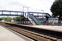 Barnt Green station footbridge and platforms 2 and 3