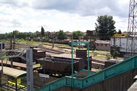 Decommissioning graveyard from footbridge