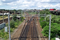 Footbridge towards Walsall