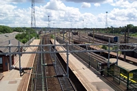 Bescot Stadium station from footbridge