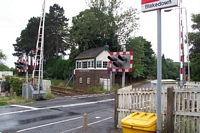 Blakedown station, Mill Lane level crossing and signal box