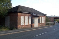 Blowers Green station booking hall, New Road
