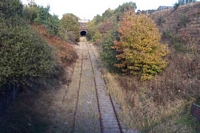 Trackbed towards Dudley from New Road