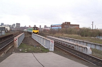 150109 prepares to pass through the station from Moor St