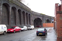 Abandoned viaduct, Upper Trinity St