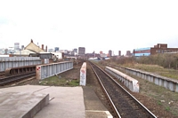 Bordesley station platform towards Moor St