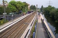 Bournville station from Maryvale Road bridge