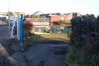 Entrance to yard, Brettell Lane