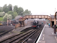 Bridgnorth station view with footbridge