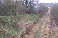 Brockmoor Halt site from Moor Street bridge
