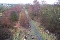 Trackbed towards Brierley Hill