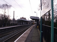 EMU departs Chester Road station for New Street