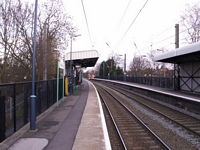 Chester Road station Lichfield platform looking North