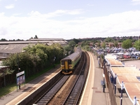 Cradley Heath station towards Worcester from footbridge