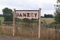 Rotting Danzey station sign