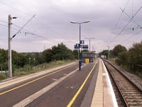 Dudley Port station looking towards Birmingham