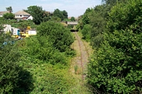 Dudley Port (low level) station track heading towards Great Bridge