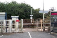 Earlswood station entrance from car park