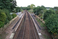 Earlswood station from road bridge