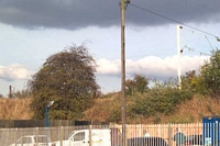 Ettingshall Road station site from Parkfield Road