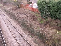Fernhill Heath station Worcester platform site