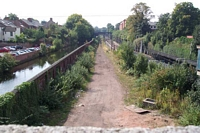 Canal, Midland Railway goods line and Five Ways station